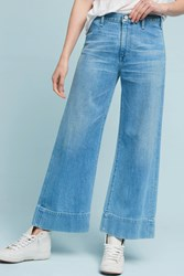 Anthropologie Citizens Of Humanity Abigail High Rise Wide Leg Cropped Jeans Denim Light
