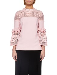 Ted Baker Poppyy Lace Trim Top Dusky Pink