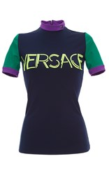 Versace Color Block Graphic Tee Multi