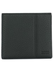 Hugo Boss Stitch Detail Wallet Calf Leather Polyester Black