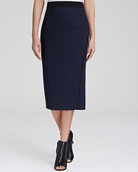 Elie Tahari Maureen Midi Pencil Skirt Navy Yard