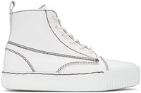 Alexander Wang White Leather Perry High Top Sneakers