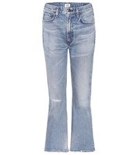 Citizens Of Humanity Estella High Waisted Cropped Jeans Blue