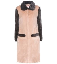 Shrimps Simon Faux Fur Coat Pink