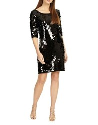 Phase Eight Belda Big Sequin Mini Dress Black