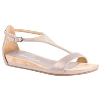 Unisa Apice T Bar Sandals Metallic