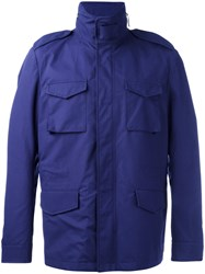 Massimo Piombo Mp Zip Up Field Jacket Blue