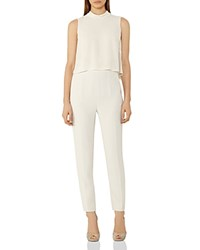 Reiss Flavia Tiered Sleeveless Jumpsuit Neutral