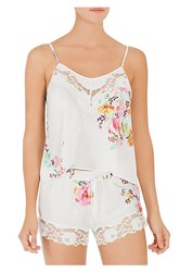 In Bloom Two Piece Paradise Camisole And Shorts Set Ivory Rose