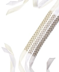 Inc International Concepts Crystal And Imitation Pearl Sash Belt Only At Macy's Ivory