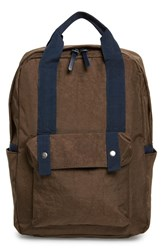 Men's Topman Boxy Brown Backpack