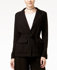 Shift Juniors' Belted Utility Blazer Black