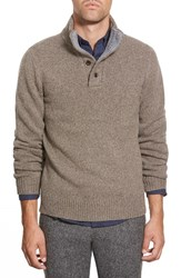 Men's Bonobos Mock Neck Merino Blend Sweater Brown