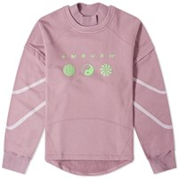 Ambush Patchwork Crew Sweat Pink