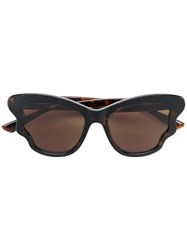 Mcq By Alexander Mcqueen Eyewear Oversized Cat Eye Sunglasses Brown