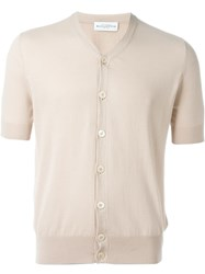 Ballantyne Short Sleeve Cardigan Nude And Neutrals