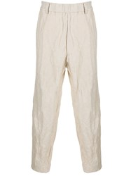 Ziggy Chen Crinkle Effect Straight Trousers 60