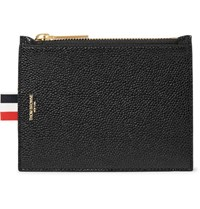 Thom Browne Pebble Grain Leather Coin Wallet Black