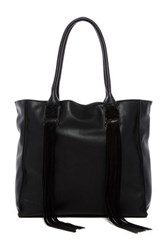 French Connection Laurel Faux Leather Tote Black