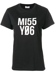 Red Valentino Miss You T Shirt Black