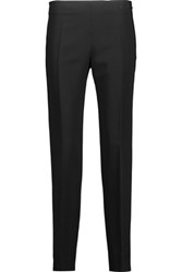 Antonio Berardi Stretch Crepe Slim Leg Pants Black