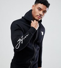Good For Nothing Muscle Hoodie In Black With Script Logo Exclusive To Asos