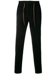 Manuel Ritz Contrast Band Track Pants Black