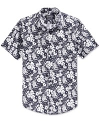 American Rag Men's Daisy Print Short Sleeve Shirt Only At Macy's Basic Navy