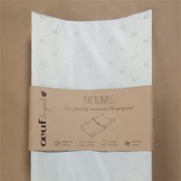 Oeuf Pure And Simple Eco Friendly Contoured Changing Pad Walnut