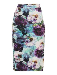 Pied A Terre Print Pencil Skirt Multi Coloured