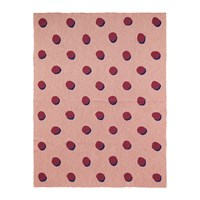 Ferm Living Double Dot Cotton Blanket Rose