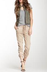 Level 99 Drawstring Cargo Pant Beige