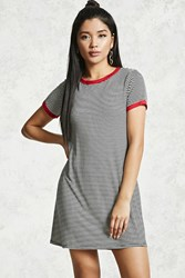 Forever 21 Stripe Ringer T Shirt Dress Black White