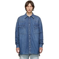 Maison Martin Margiela Blue Denim Oversized Shirt