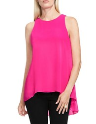 Vince Camuto Petite Sleeveless Solid Top Pink