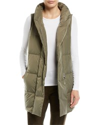 Lafayette 148 New York Quilted Puffer Down Vest W Back Zip Bay Leaf