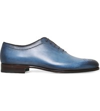 Stemar Hand Painted Oxford Shoes Blue