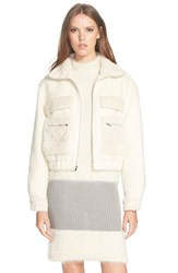 Women's Diane Von Furstenberg Genuine Rabbit Fur Jacket