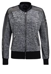 Evenandodd Active Tracksuit Top Grey Melange Black Mottled Grey