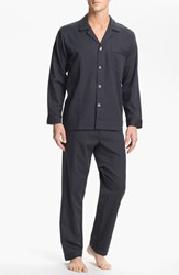 Men's Majestic International Herringbone Cotton Pajamas Lead