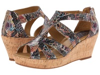 Softspots Rhode Rainbow Multi Ginger Snake Print Women's Wedge Shoes Metallic
