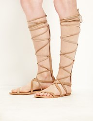 Pixie Market Matisse Natural Suede Atlas Gladiator Sandals