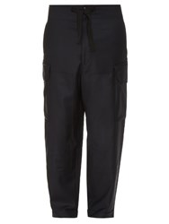 Paul Smith Cargo Pocket Wool Trousers Navy