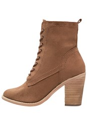 Dorothy Perkins Amethyst Laceup Boots Brown