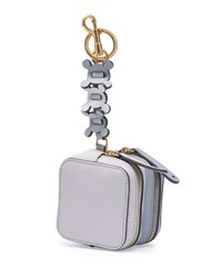 Anya Hindmarch Double Zip Circulus Coin Purse Gray