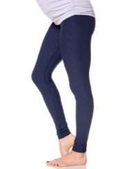 A Pea In The Pod Textured Maternity Leggings Navy