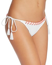 Vince Camuto Eyelet Laced String Bikini Bottom White