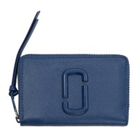 Marc Jacobs Blue Small Snapshot Standard Wallet