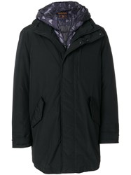 Woolrich Layered Padded Jacket Feather Down Polyamide Polyester M Black