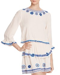 Rahicali Daisy Cocktail Blouse 100 Bloomingdale's Exclusive White